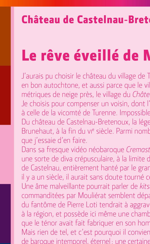 Uli Meisenheimer-Design graphique du livre 100 monuments / 100 écrivains qui présente les cent monuments historiques majeurs de France. Centre des monuments nationaux / Éditions du patrimoine