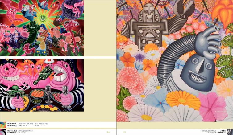 Uli Meisenheimer-Design graphique du catalogue d'exposition Di Rosa World Tour / 2002-2012. Galerie AD, Béziers