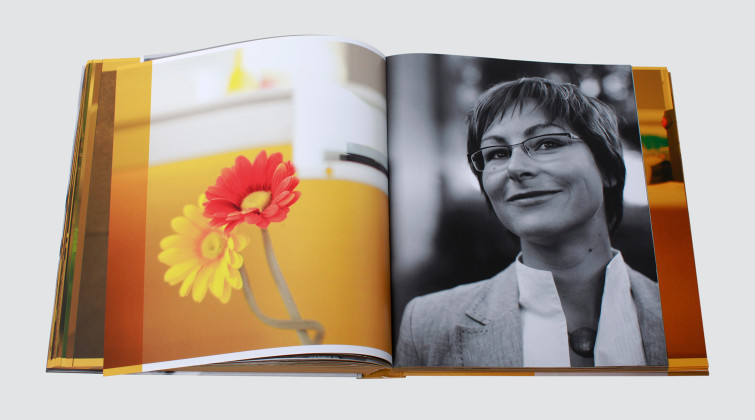 Uli-Meisenheimer-Concept éditorial et design graphique d'un livre dédié aux employés de l'entreprise HSE/Entega, Allemagne