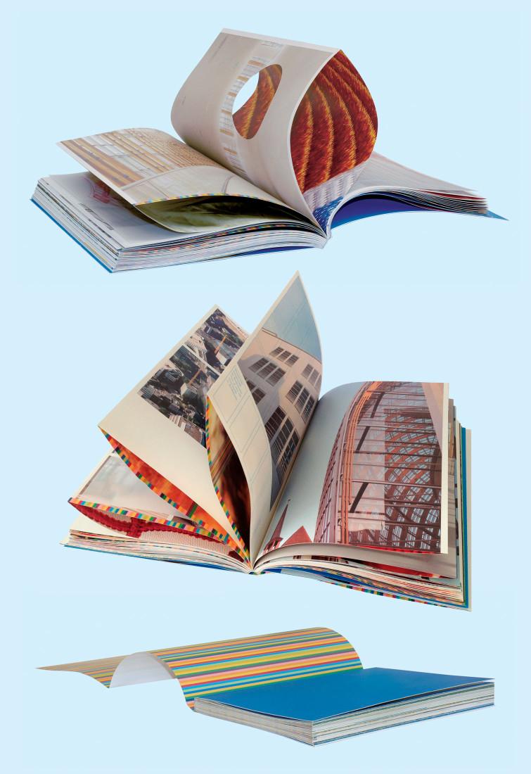 Concept editorial et design graphique d'un livre de présentation qui rend hommage à l'architecture du grand magasin de Peek&Cloppenburg à Cologne, dessiné par Renzo Piano